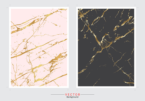 Gold marble cover background, Vector set template, Fully editable color change, Modern and luxury texture for your design a stunning wedding, invitation, greeting cards, web banner, pattern, wallpaper