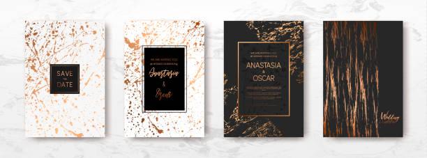 Plantilla de mármol oro, artística abarca DISEÑO. - ilustración de arte vectorial