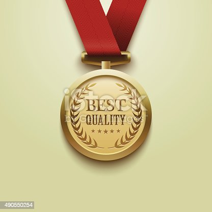 istock Gold medal best quality.vector 490550254