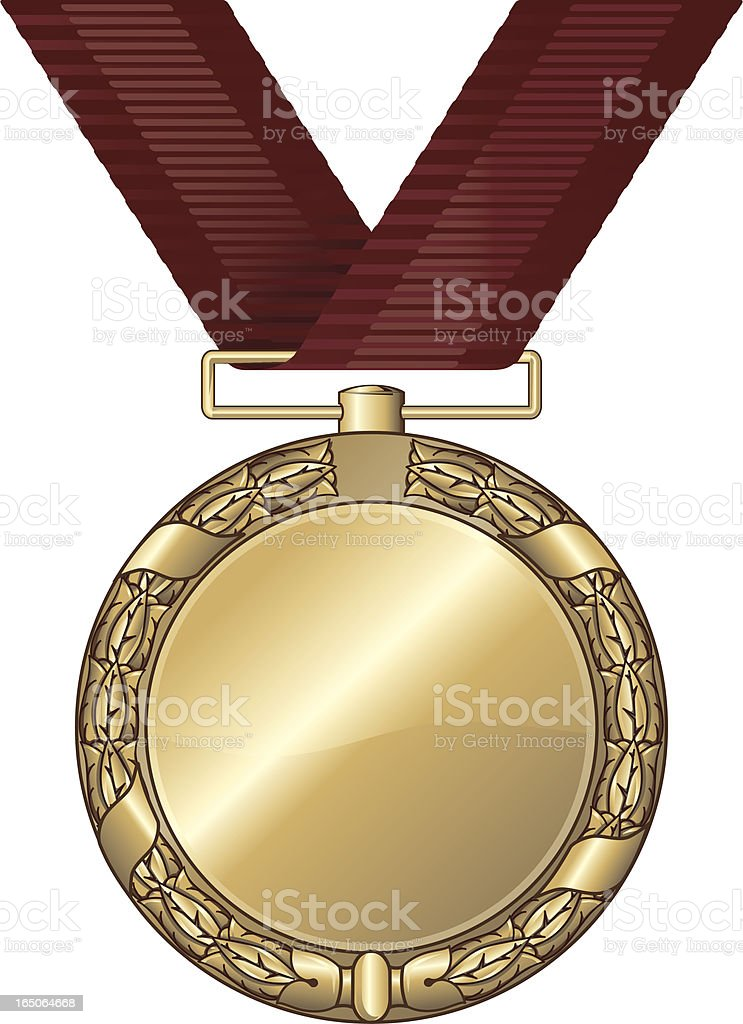 gold medal blank royalty-free gold medal blank stock vector art & more images of achievement