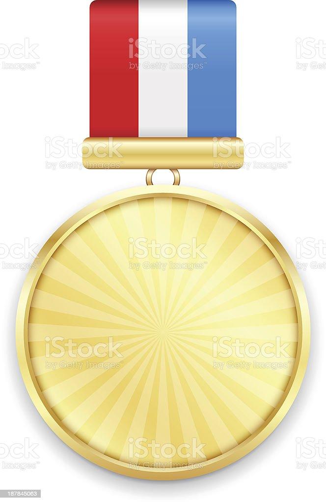Gold Medal royalty-free stock vector art