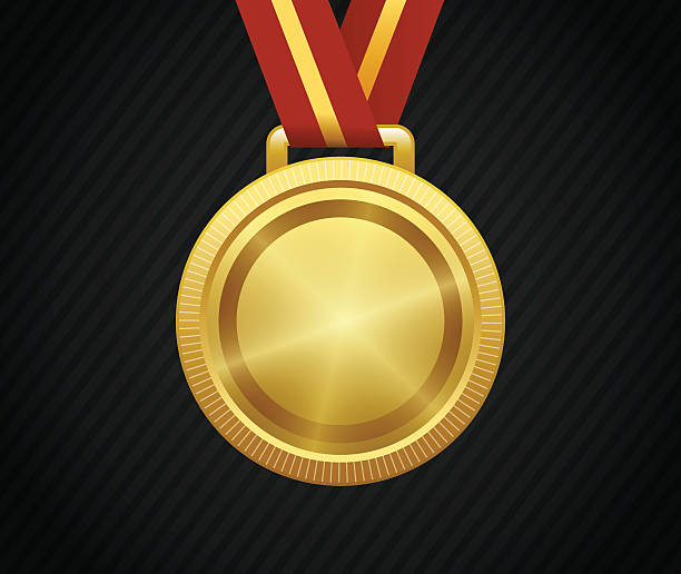 Best Gold Medal Illustrations, Royalty-Free Vector ...