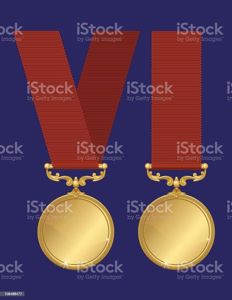 Gold Medals ( Vectors) royalty-free stock vector art