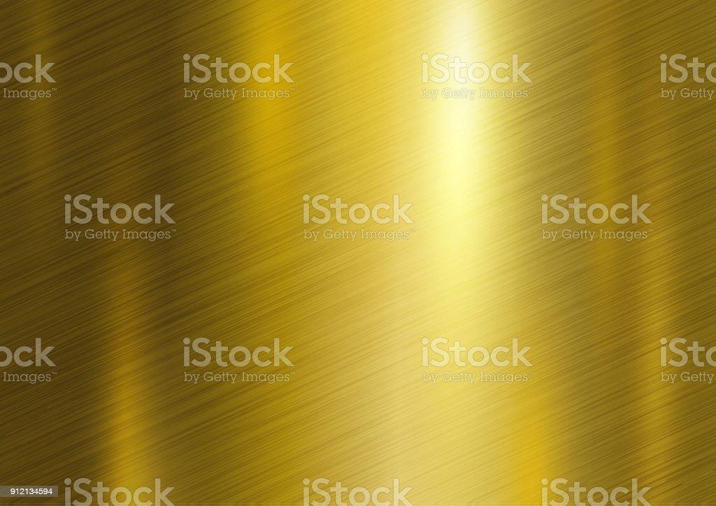 Gold Metall Textur-Hintergrund-Vektor-illustration – Vektorgrafik