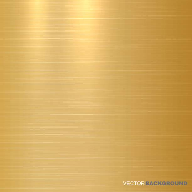 Gold metallic background. Polished texture. Gold metallic background. Polished texture. Vector illustration fabric swatch stock illustrations