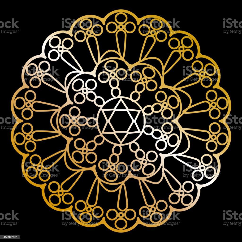 gold napkin royalty-free stock vector art