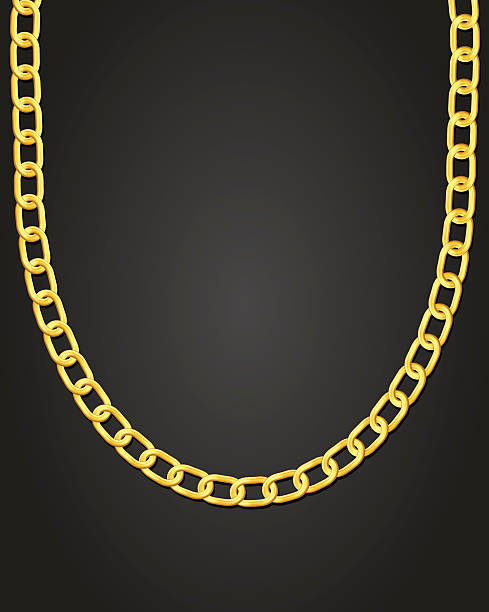 Best Gold Chain Illustrations, Royalty-Free Vector ...