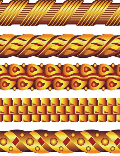 gold halskette - paararmbänder stock-grafiken, -clipart, -cartoons und -symbole