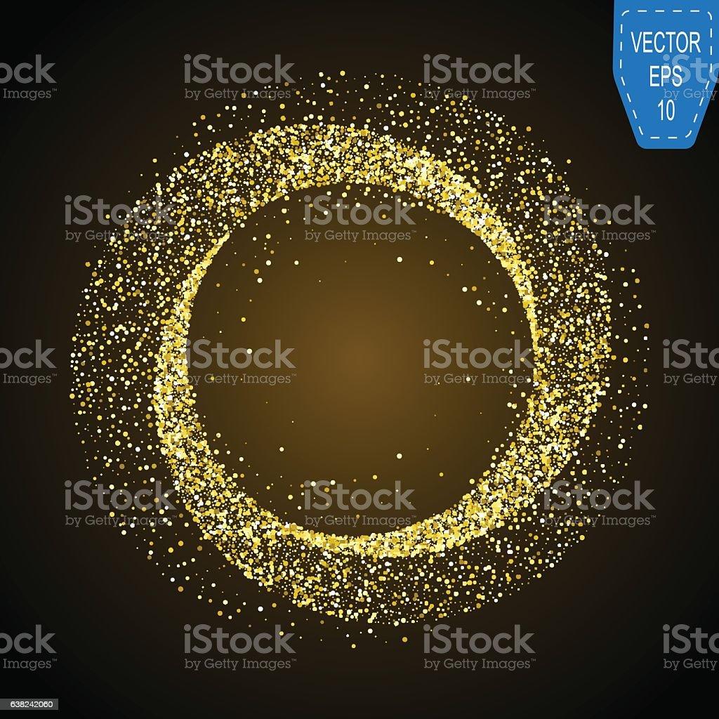 Gold neon magic glowing light. vector art illustration
