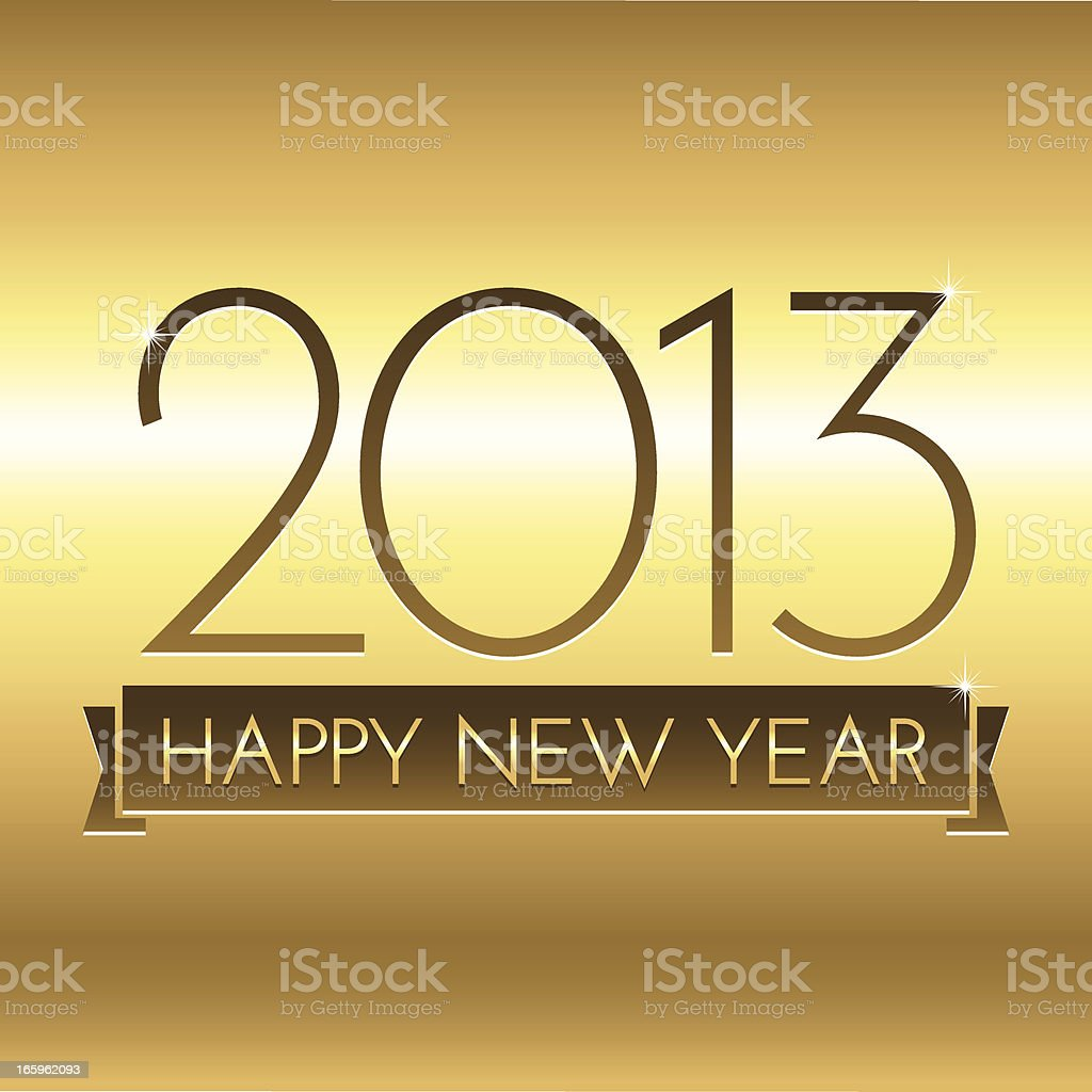 Gold New Year 2013 Background royalty-free stock vector art