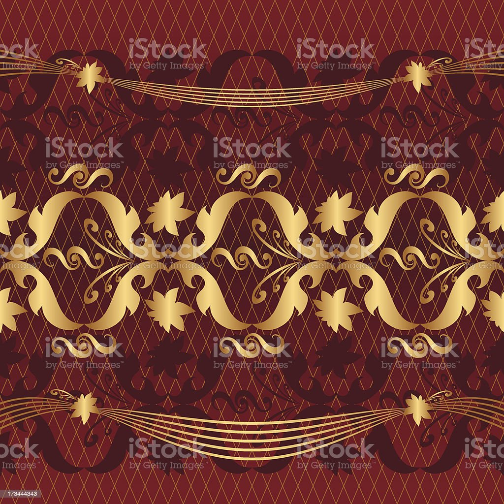 gold on red royalty-free stock vector art