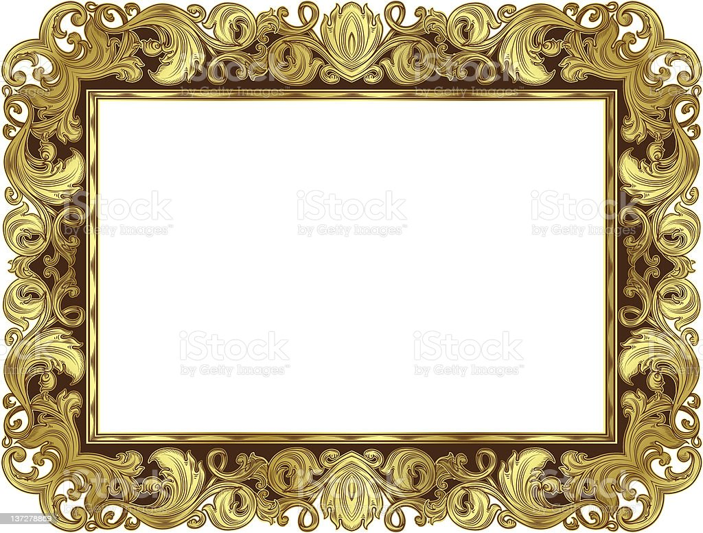Gold Ornate Frame Stock Vector Art & More Images of Antique ...