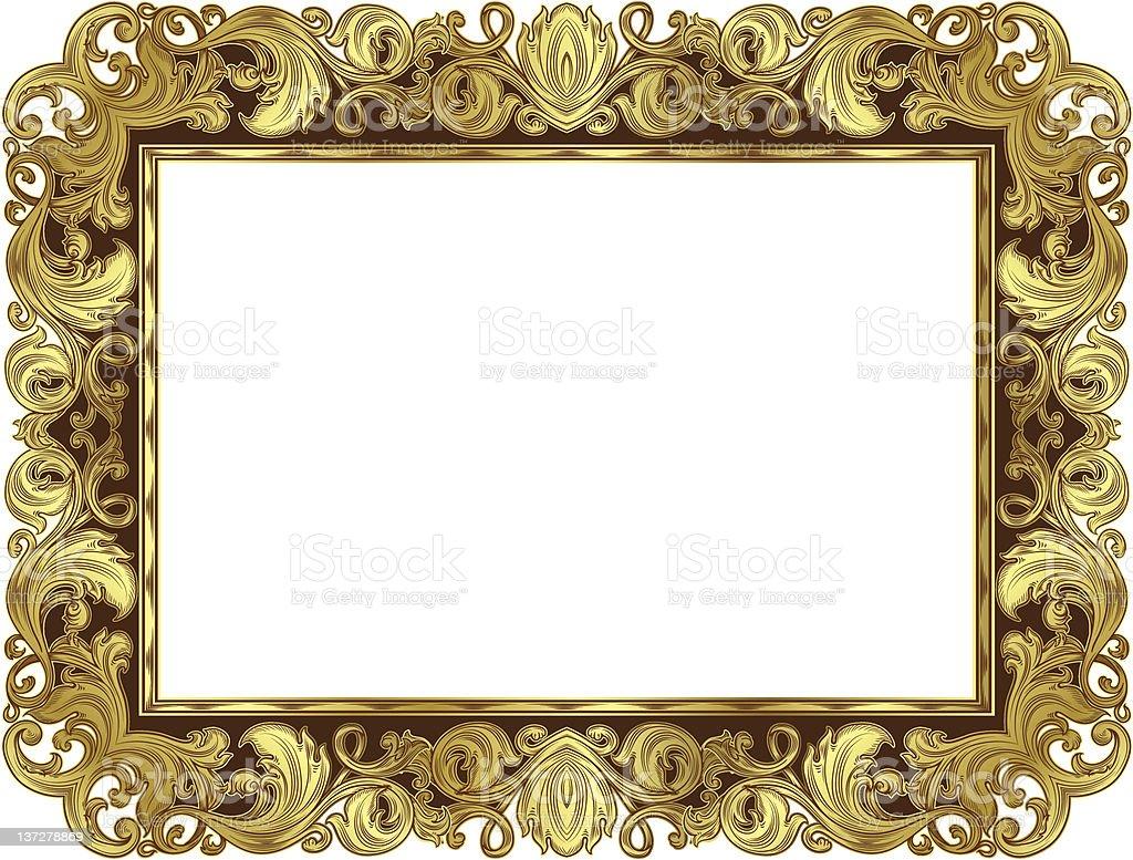 Marco Adornado De Oro - Arte vectorial de stock y más imágenes de ...
