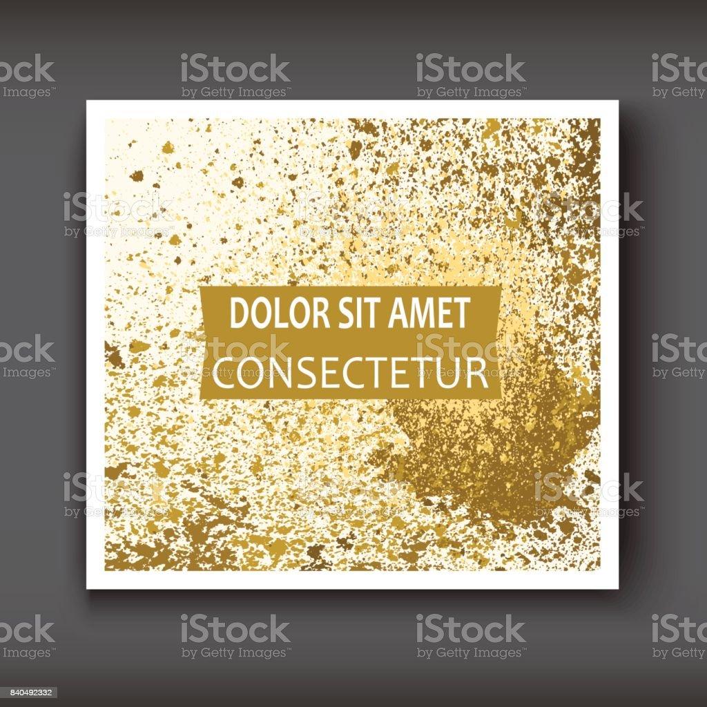 Ilustración de Salpicaduras De Pintura De Oro Salpicadura Explosión ...