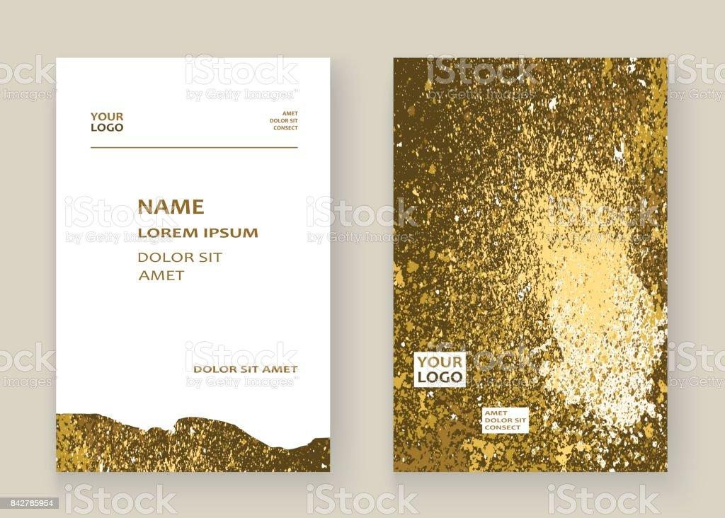 Goldfarbe Splash Splatter Explosion Glitter Künstlerischen Rahmen ...