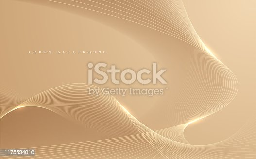 Gold pastel lines abstract bckground in vector