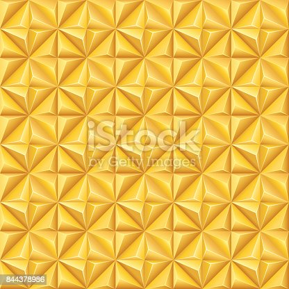 Seamless gold colored pattern.