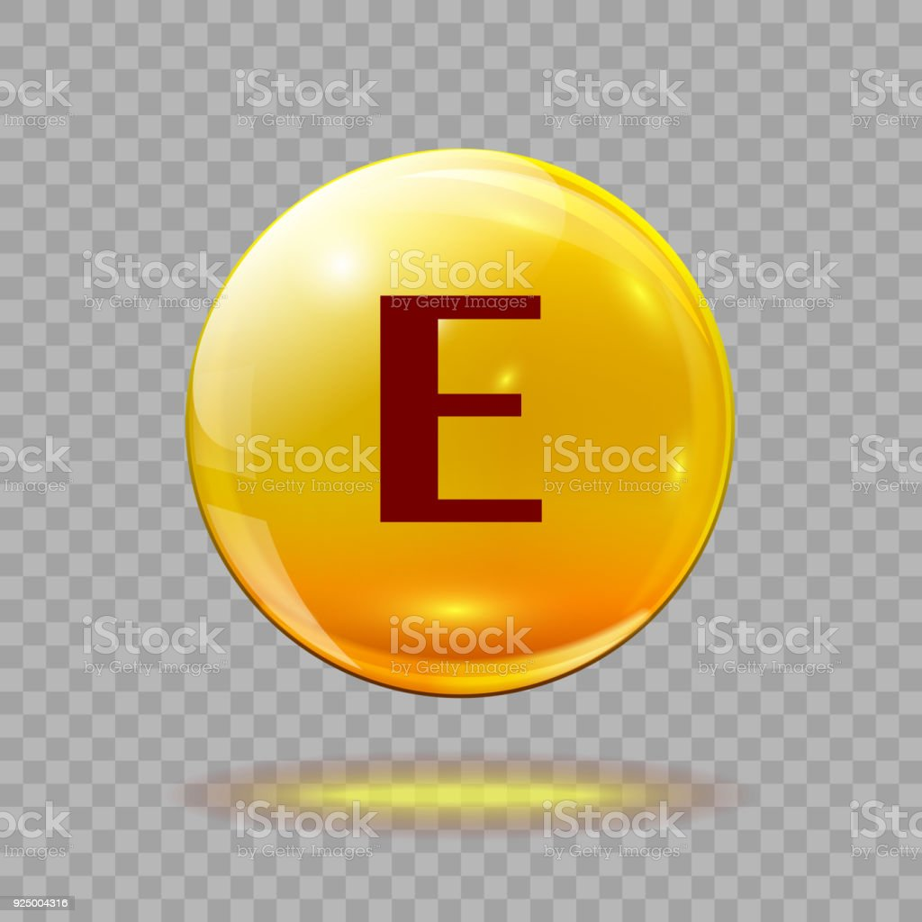 Gold pill capsule or gold drop with vitamin E royalty-free gold pill  capsule or
