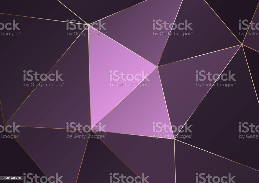 Gold Polygonalen Textur Vektorcoverdesign Für Die Hochzeit