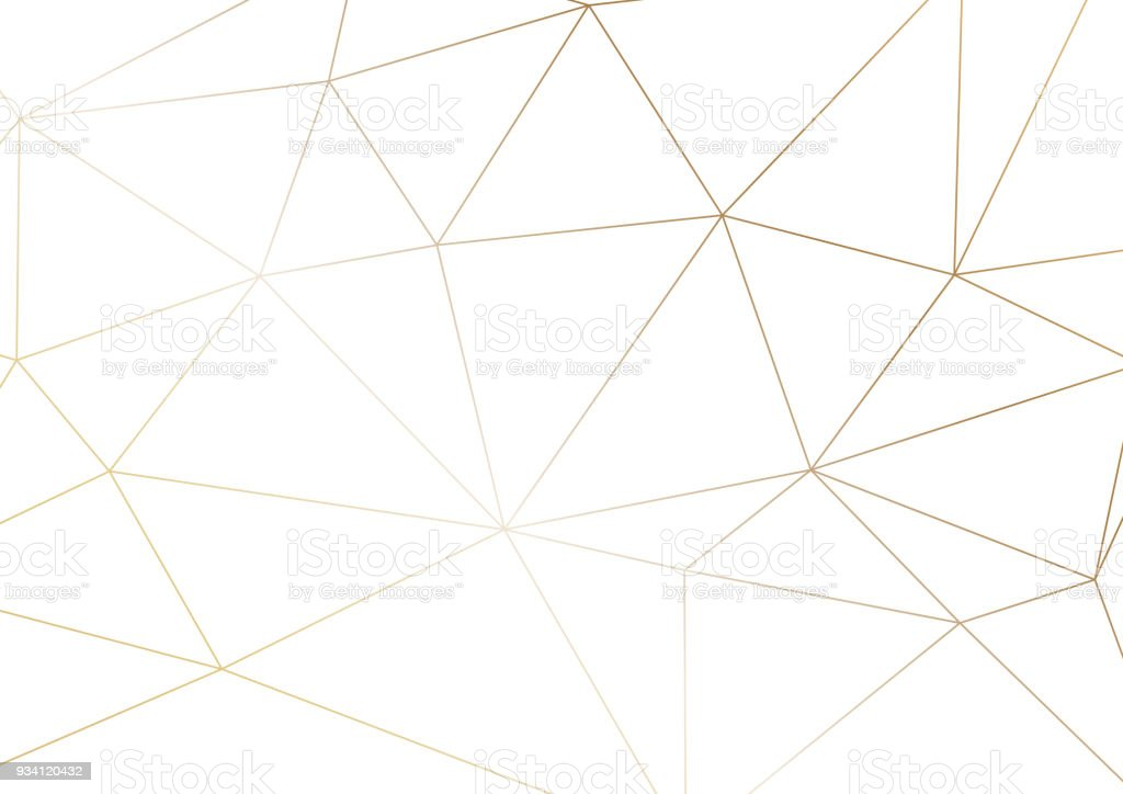 Gold polygonal texture. Vector cover design for wedding invintation, placards, banners, flyers, presentations and business cards vector art illustration