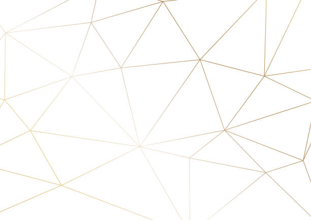 gold polygonal texture. vector cover design for wedding invintation, placards, banners, flyers, presentations and business cards - makeup fashion stock illustrations