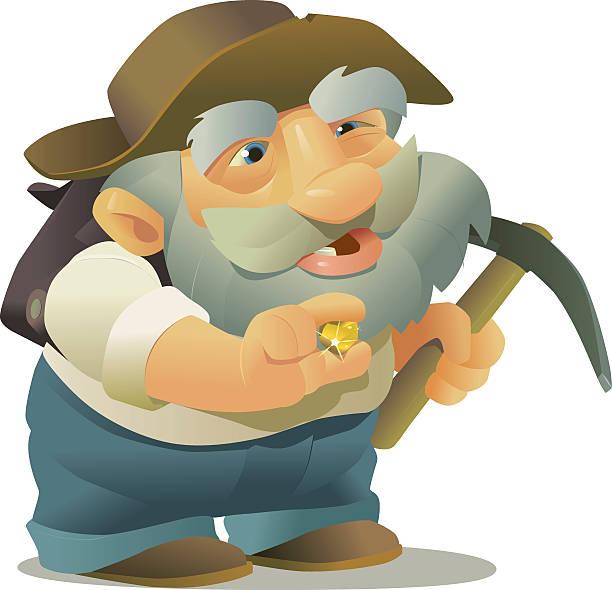 gold prospector - old man hat stock illustrations, clip art, cartoons, & icons