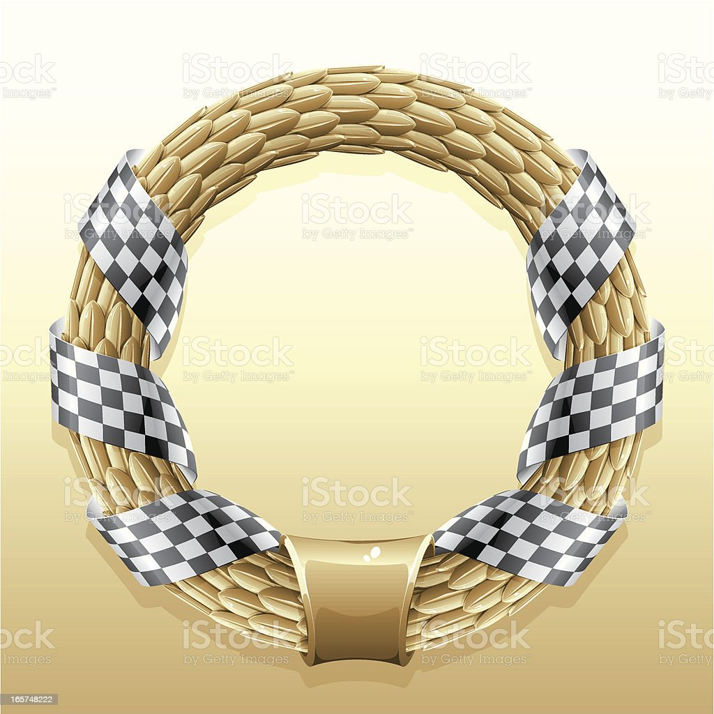 gold racing wreath royalty-free stock vector art