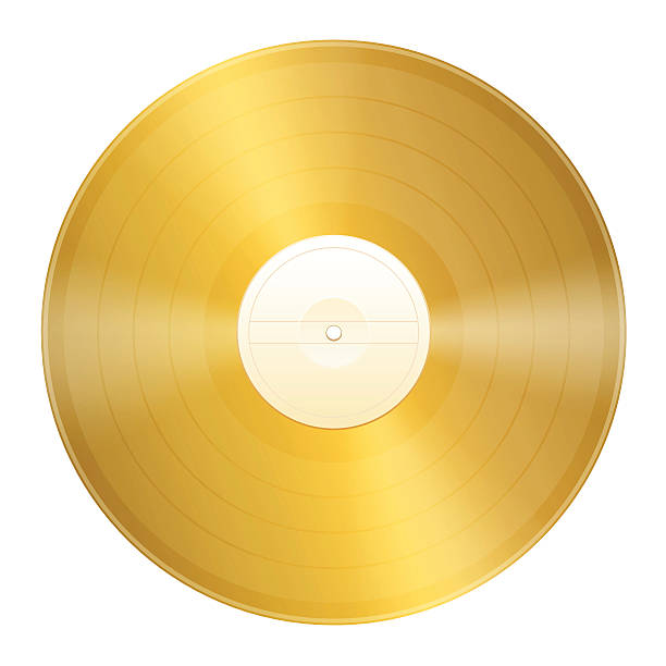 Gold Record Certification vector art illustration