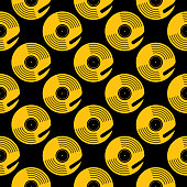 istock Gold Record Turntable Seamless Pattern 1290167760