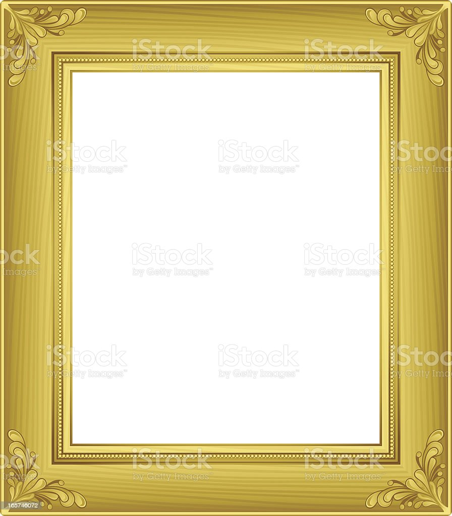 Gold Retro Frame vector art illustration
