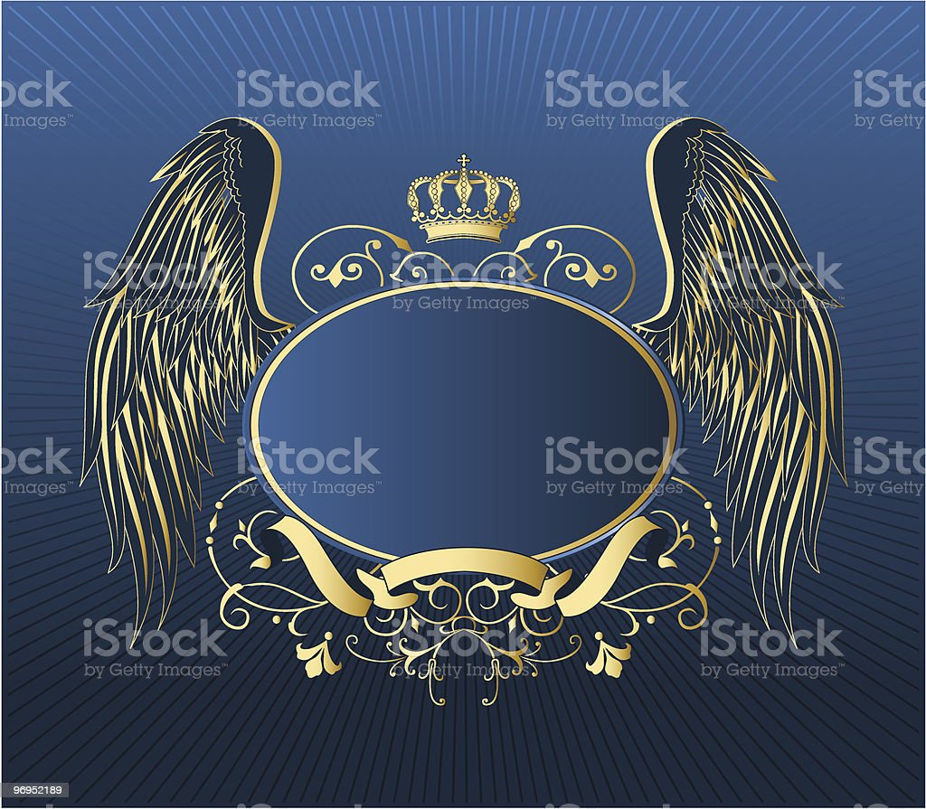 Gold retro shield royalty-free gold retro shield stock vector art & more images of animal wing