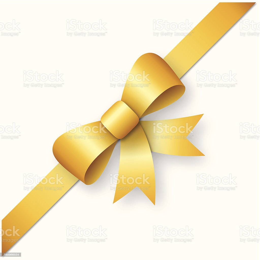 Gold ribbon with bow royalty-free gold ribbon with bow stock vector art & more images of anniversary card
