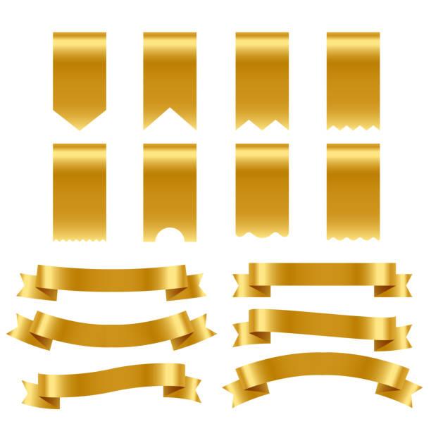 Goldbänder und Etiketten-Pack – Vektorgrafik