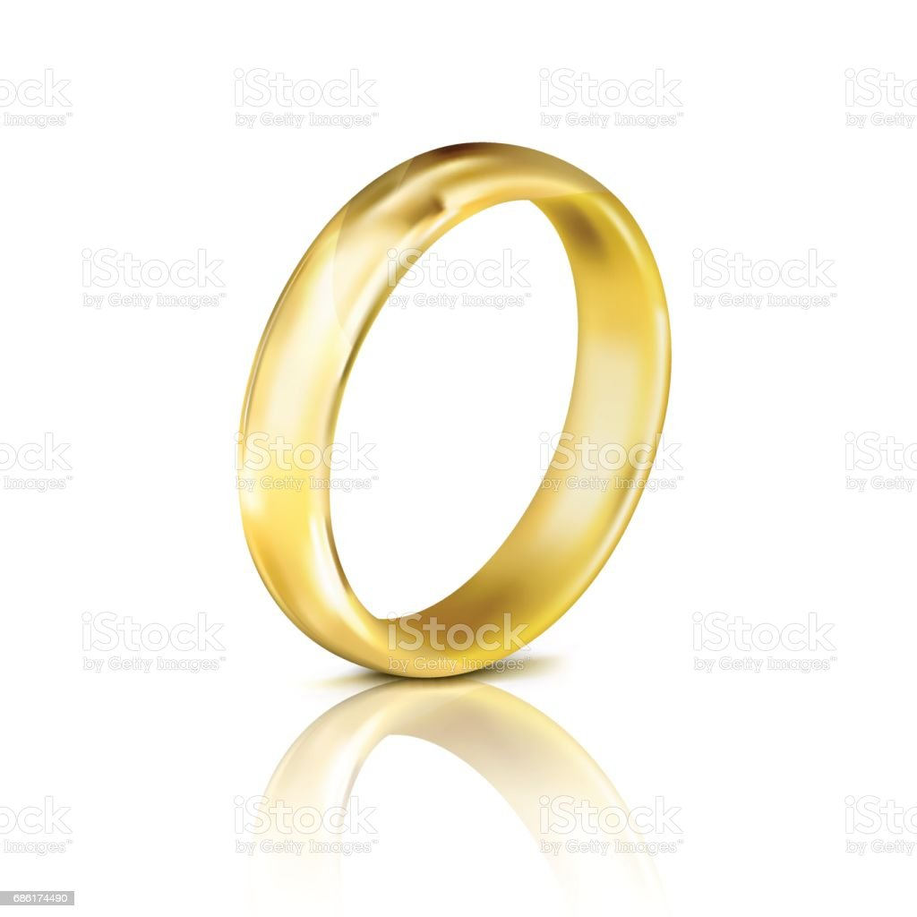 Gold Ring Stock Vector Art & More Images of Adult 686174490 | iStock