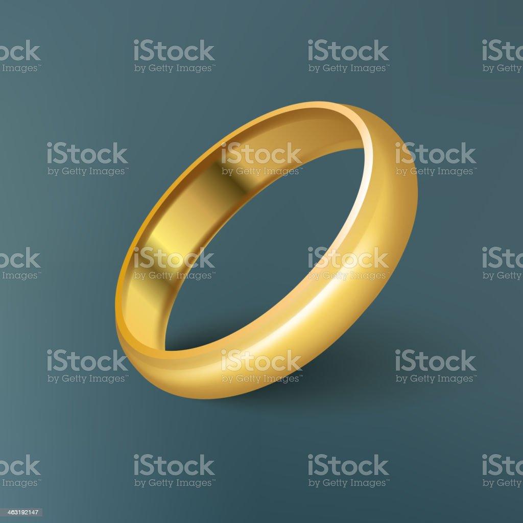 Gold Ring. Vector vector art illustration