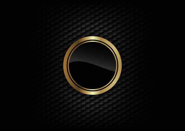gold round vector art illustration