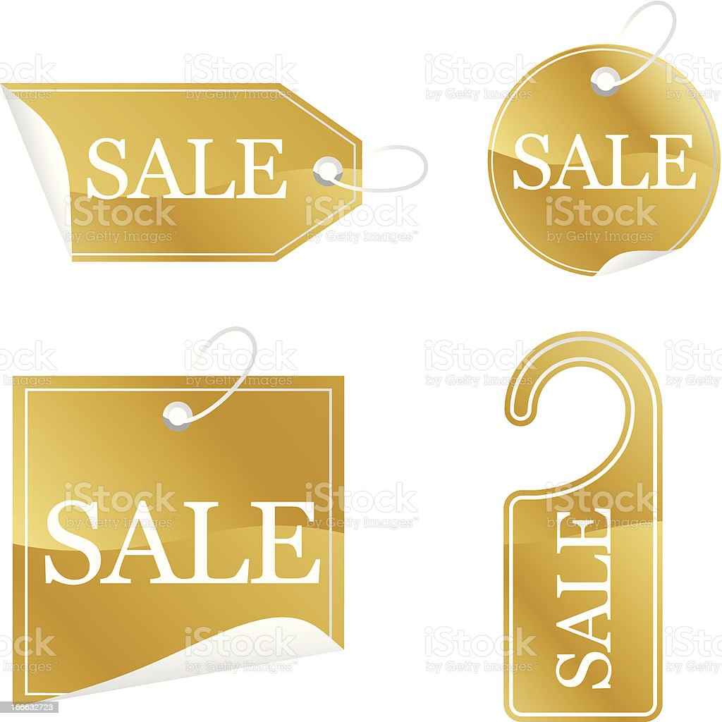Gold Sale stickers royalty-free gold sale stickers stock vector art & more images of business