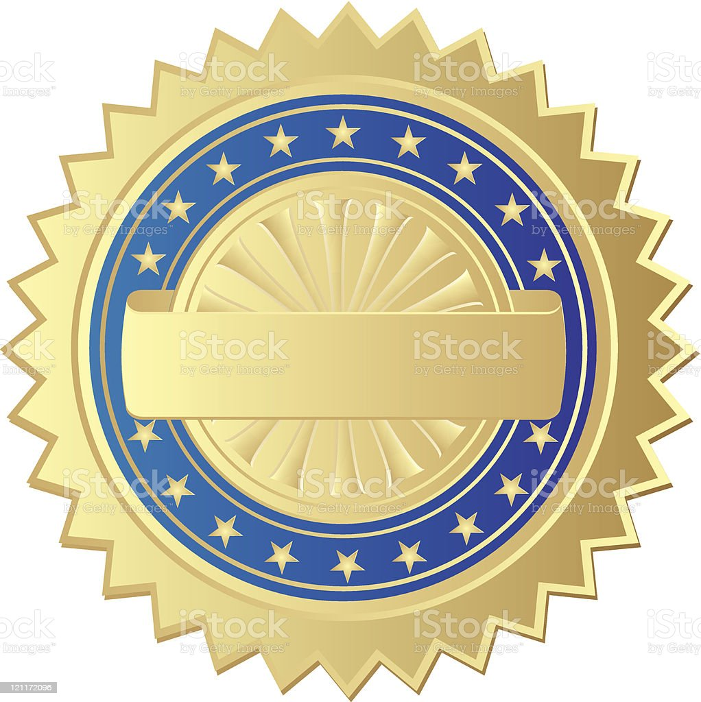 gold seal royalty-free stock vector art