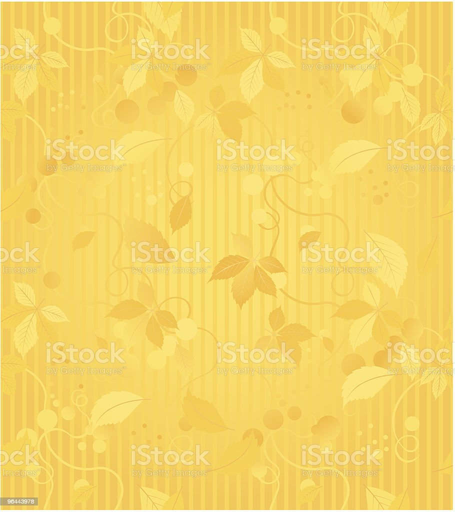 Gold Seamless Wallpaper Pattern - Royalty-free Abstract stock vector