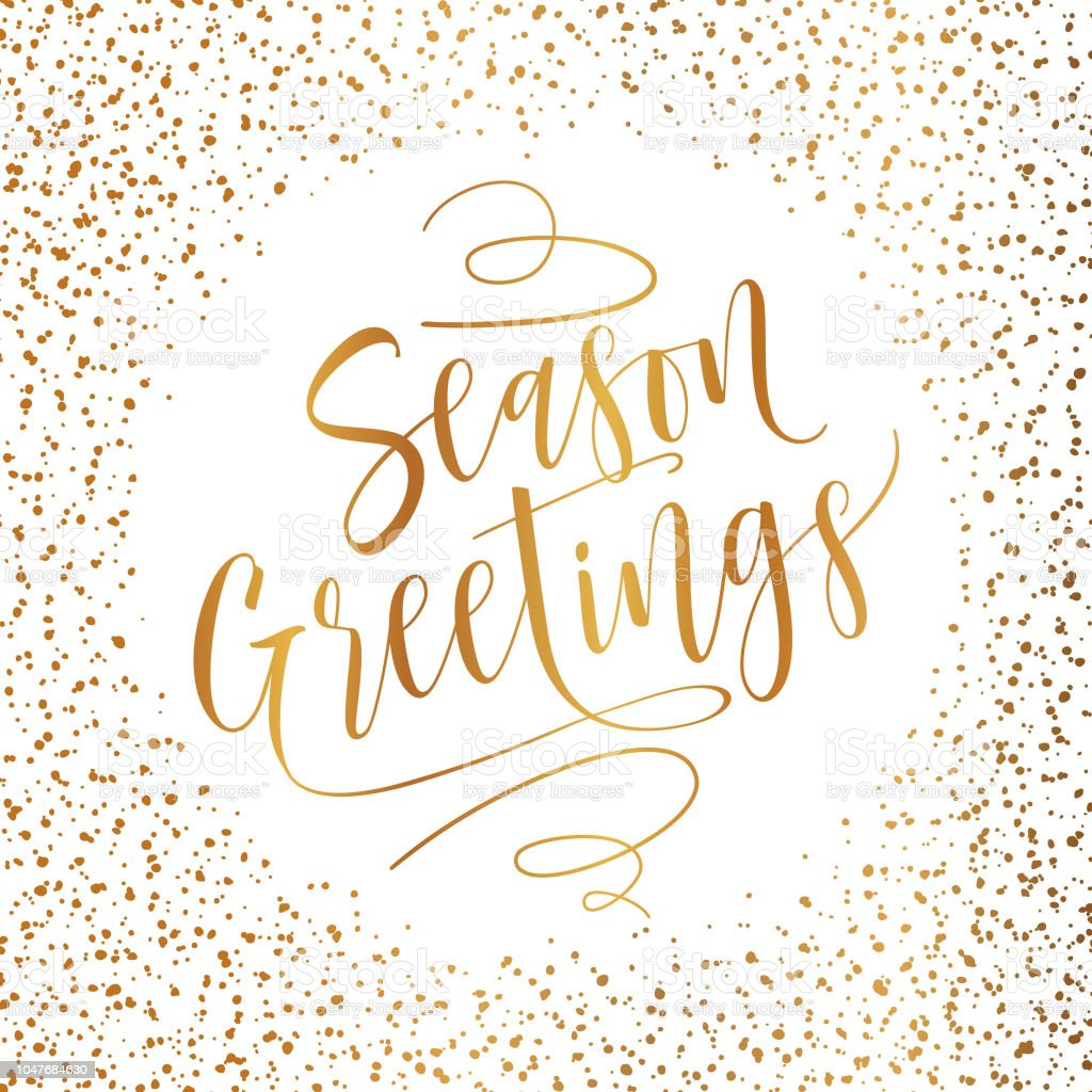 Gold Season Greeting Card Stock Vector Art More Images Of