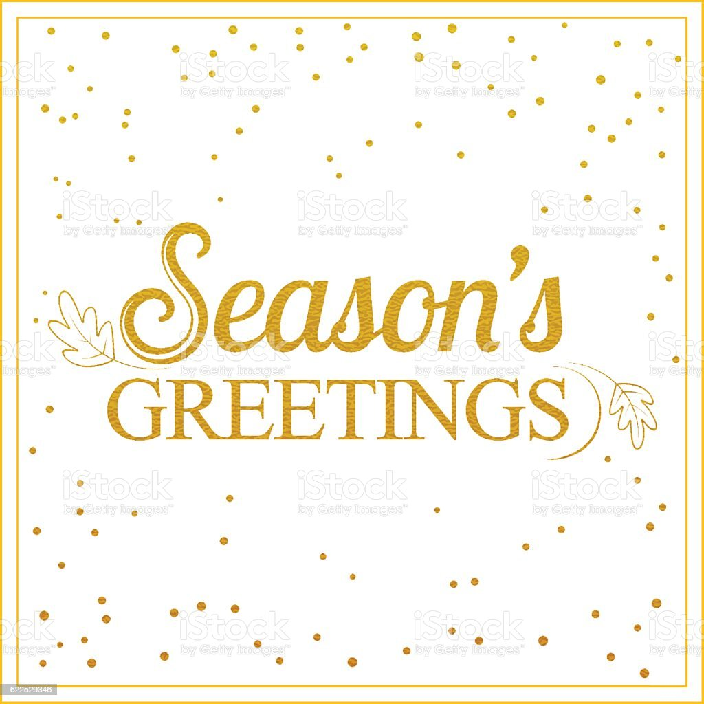 Gold seasons greetings card designvintage card for holidays stock gold seasons greetings card designntage card for holidays royalty free gold seasons kristyandbryce Image collections