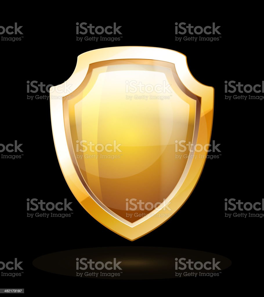 Gold Shield royalty-free gold shield stock vector art & more images of award