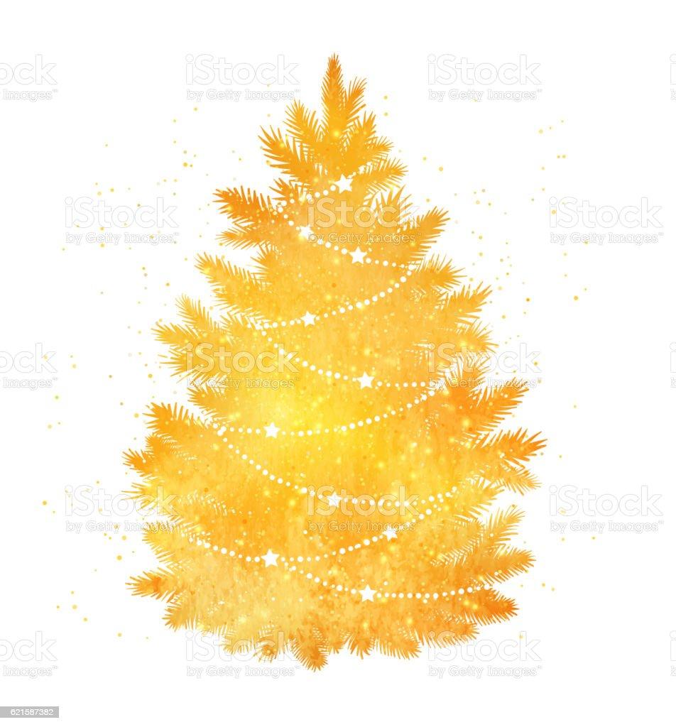 gold silhouette of christmas tree stock vector art 621587382 istock