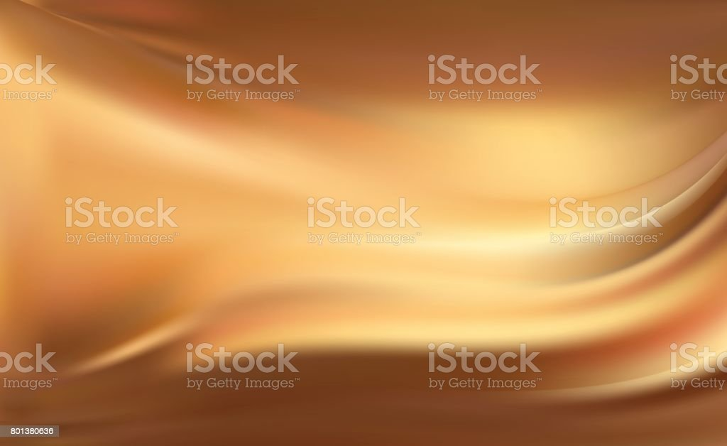 Gold silk background with some soft folds vector art illustration
