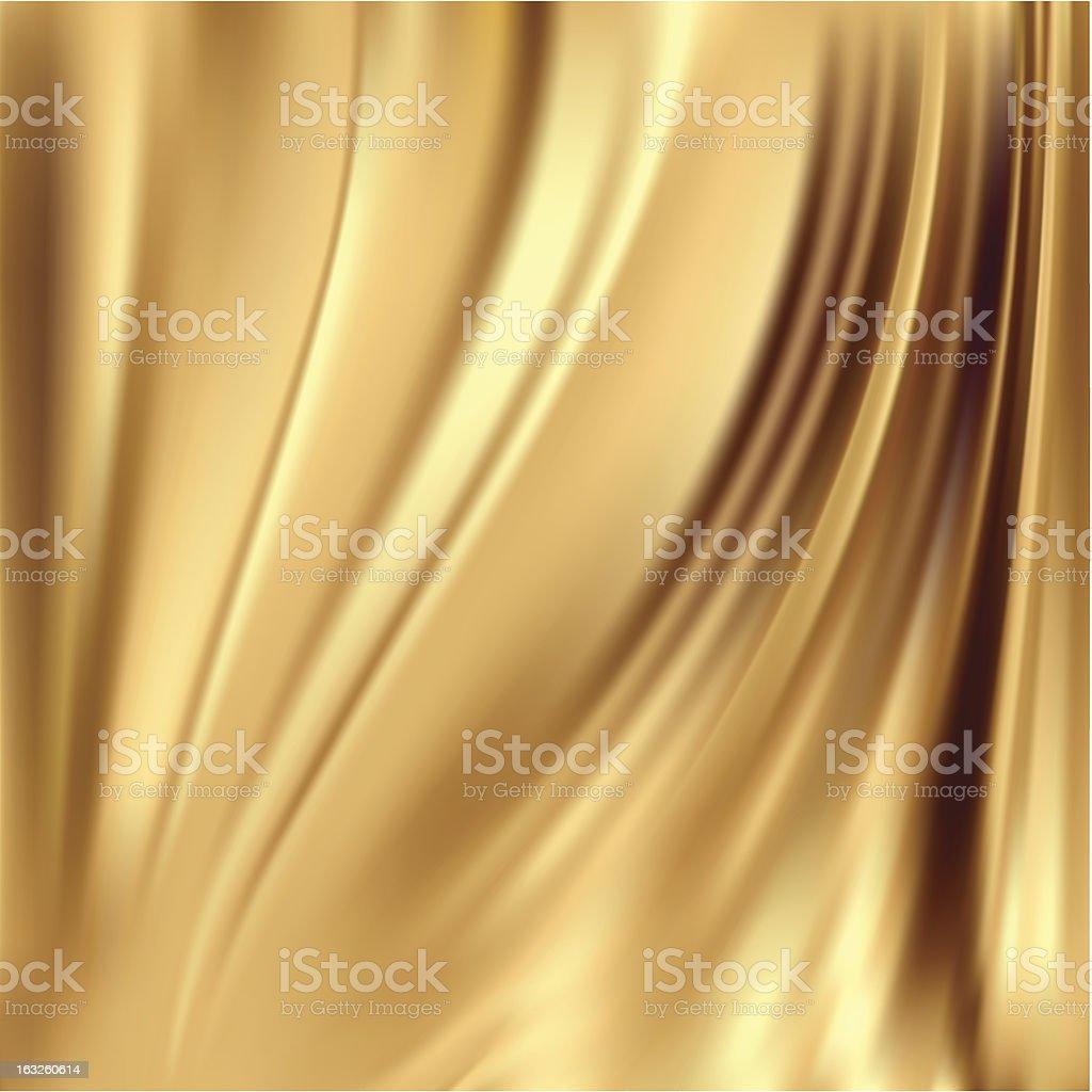 Fondo de seda dorada - ilustración de arte vectorial