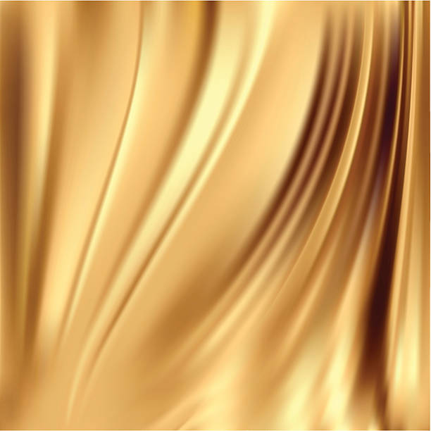gold silk backgrounds - silk backgrounds stock illustrations, clip art, cartoons, & icons