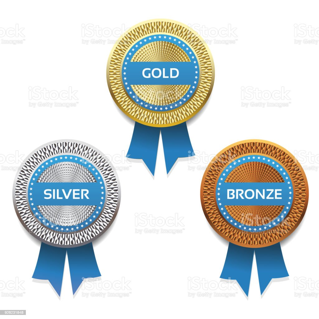 Gold, silver and bronze awards. Vector. eps 10 vector art illustration