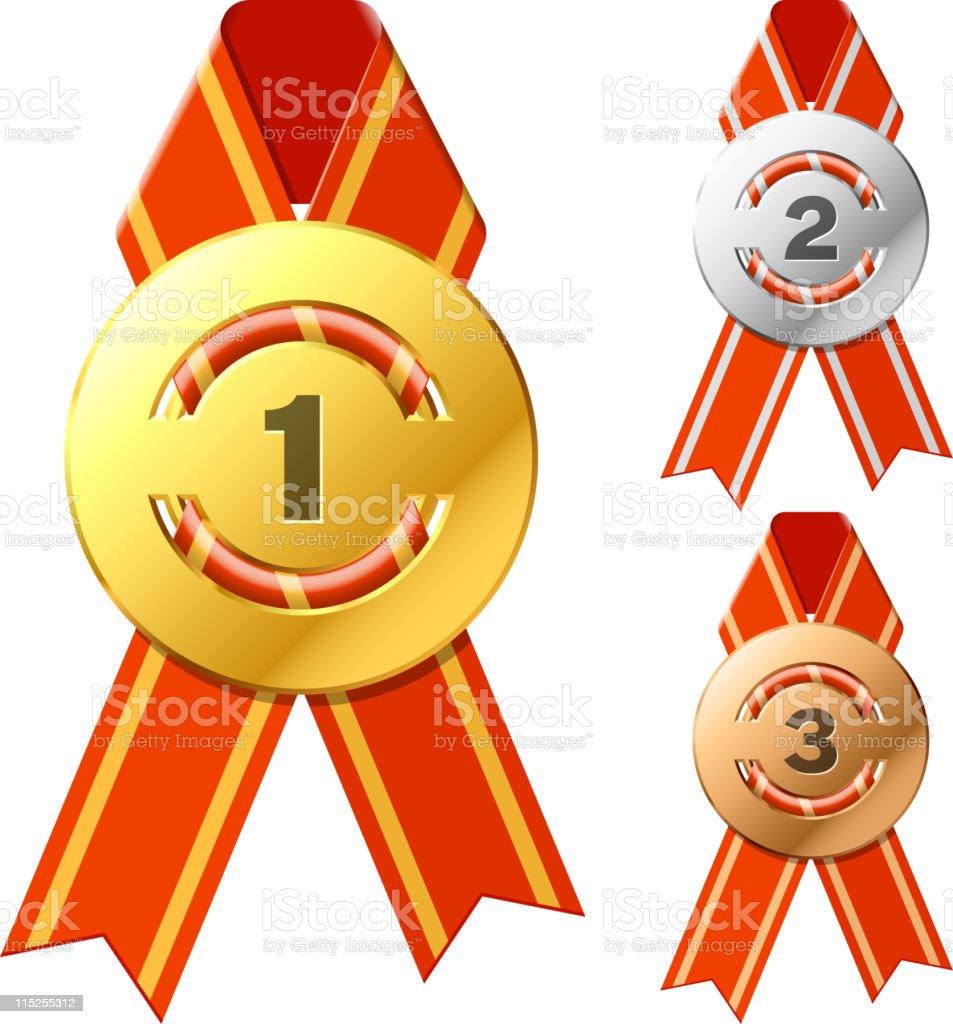 Gold, silver and bronze awards royalty-free gold silver and bronze awards stock vector art & more images of achievement