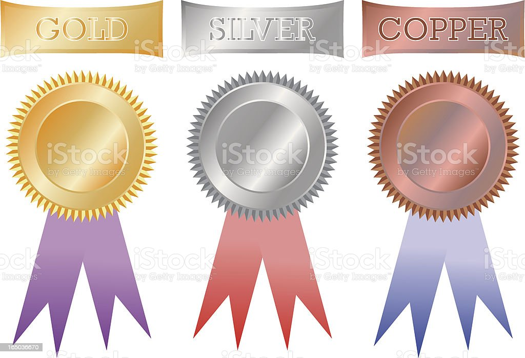 Gold Silver and Copper royalty-free gold silver and copper stock vector art & more images of arranging