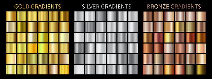金銀ブロンズのグラデーション - まぶしいのベクターアート素材や画像を多数ご用意
